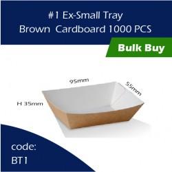 38-1Ex-Small Tray/Brown  Cardboard三层硬纸托1000pcs