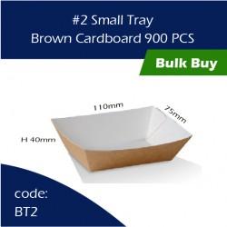 39-2 Small Tray / Brown Cardboard三层硬纸托900pcs