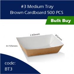 40-3 Medium Tray / Brown Cardboard三层硬纸托500pcs