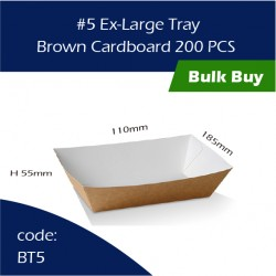 42-5 Ex-Large Tray / Brown Cardboard三层硬纸托200pcs