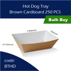 43-Hot Dog Tray / Brown Cardboard三层硬纸托250pcs