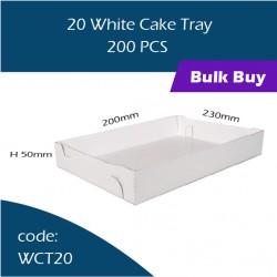 45-20 White Cake Tray 白色鱼薯盒200pcs