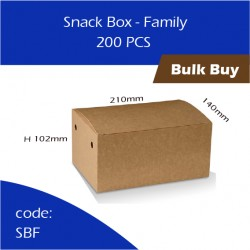 54-Snack Box - Family单层纸餐盒200pcs
