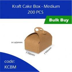 56-Kraft Cake Box - Medium蛋糕盒200pcs