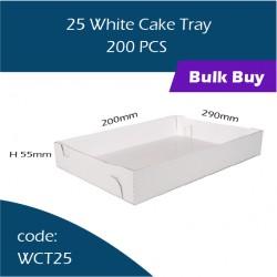 48-25 White Cake Tray白色鱼薯盒200pcs