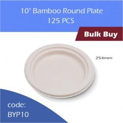 "70-10"" Bamboo round plate竹浆碟500pcs"