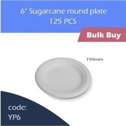 "71-6"" Sugarcane round plate蔗浆碟1000pcs"