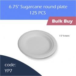 "72-6.75"" Sugarcane round plate蔗浆碟1000pcs"