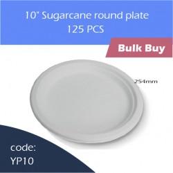 "74-10"" Sugarcane round plate蔗浆碟500pcs"