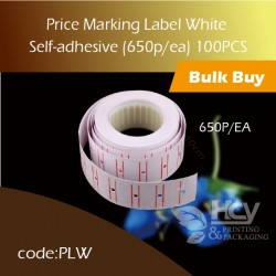 10-Price Label White Self-adhesive (650p/ea) 100Roll