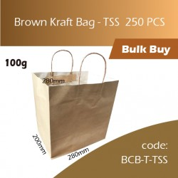 04-Brown Kraft Bag - TSS牛皮纸手挽袋 250pcs