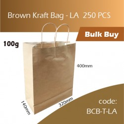 07-Brown Kraft Bag - LA牛皮纸手挽袋 250pcs
