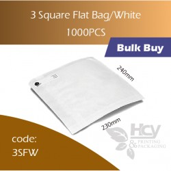 11-3 Square Flat Bag/White 一层白纸袋 1000pcs