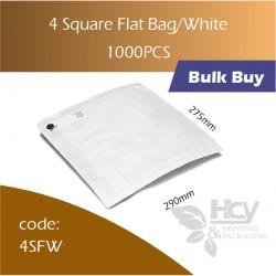 12-4 Square Flat Bag/White一层白纸袋 1000pcs