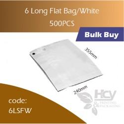 19-6 Long Flat Bag/White一层白纸袋 1000pcs