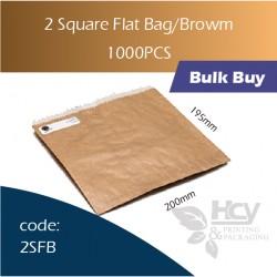 24-2 Square Flat Bag/Brown一层牛皮色纸袋 1000pcs