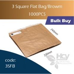25-3 Square Flat Bag/Brown一层牛皮色纸袋 1000pcs