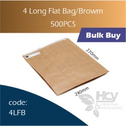 32-4 Long Flat Bag/Brown一层牛皮色纸袋 500pcs