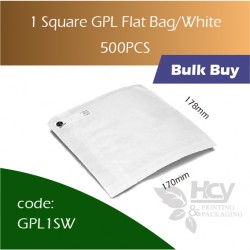 37-1 Square GPL Bag/White双层防油白纸袋 500pcs