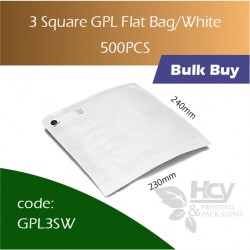 39-3 Square GPL Bag/White 双层防油白纸袋 500pcs