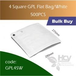 40-4 Square GPL Bag/White双层防油白纸袋 500pcs