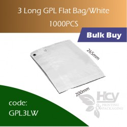 45-3 Long GPL Bag/White双层防油白纸袋1000pcs