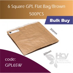 52-6 Square GPL Bag/Brown双层防油牛皮色纸袋 500pcs