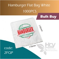 58-Hamburger Flat Bag White Kraft Bags单层汉堡袋1000pcs