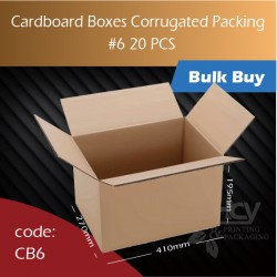 72-6 Cardboard Boxes Corrugated Packing 6号纸箱 20pcs