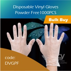 11-Disposable Vinyl Gloves Powder Free PVC胶手套无粉(大中小) 1000pcs