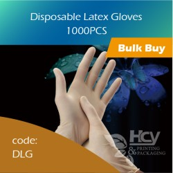 12-Disposable Latex Gloves 乳胶手套(大中小) 1000pcs