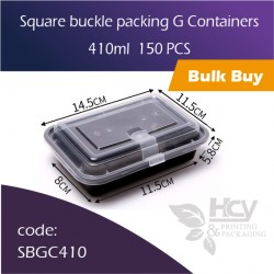 42-Square buckle packing G Containers  410ml  150 PCS