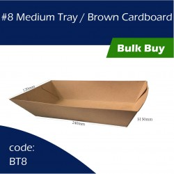 8 Medium Tray / Brown Cardboard