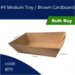 9 Medium Tray / Brown Cardboard
