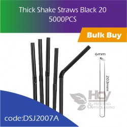 10.Thick Shake Straws Black 20 小吸管(散装)5000PCS