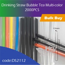 Drinking Straw Bubble Tea Multi-color 彩散大粗吸管(散装) 2000PCS