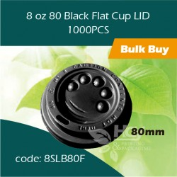36-8 oz 80 Black Flat Cup LID 平盖1000PCS