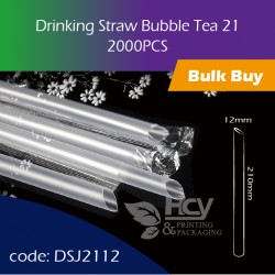 04.Drinking Straw Bubble Tea 21大粗吸管2000PCS