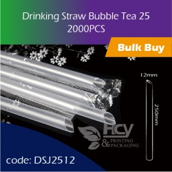 06.Drinking Straw Bubble Tea 25大粗吸管2000PCS