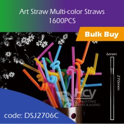 07.Art Straw Multi-color Straws彩色管1600PCS