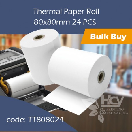 01.Thermal Paper Roll80x80mm 热敏纸24PCS