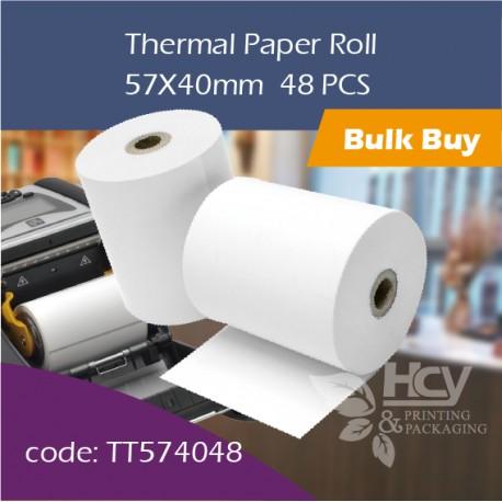 04.Thermal Paper Roll热敏纸57x40mm 48PCS