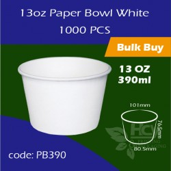 05.Paper Bowl White 13oz 390ml白碗1000PCS