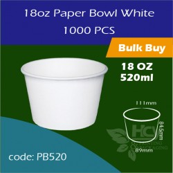 07.Paper Bowl White18oz 520ml白碗1000PCS
