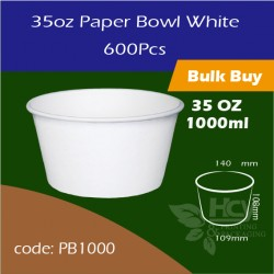 10.Paper Bowl White 35oz 1000ml白碗600PCS