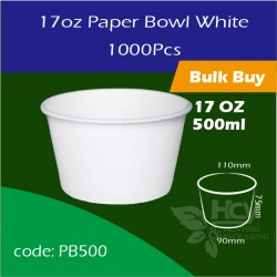 13.Paper Bowl White17oz  500ml白碗1000PCS