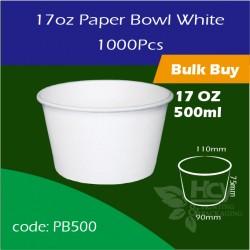 13.Paper Bowl White17oz  500ml白碗1000PCS
