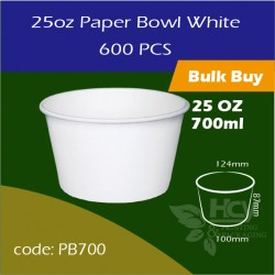 15.Paper Bowl White 25oz 700ml白碗600PCS