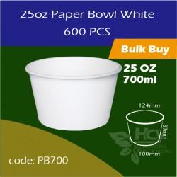 15.Paper Bowl White 25oz 700ml白碗600PCS