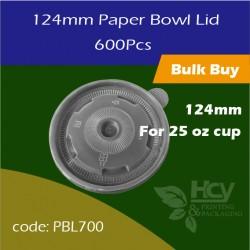 16.Paper Bowl Lid124mm 盖600PCS